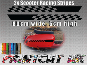Scooter Racing Stripes Stickers for Scomadi, Vespa, Lambretta, LML, Royalloy, B